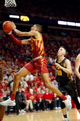 Tyrese Haliburton could be a lottery pick in the 2020 NBA Draft.  (Photo: Zach Boyden-Holmes/The Register via Des Moines Register.)