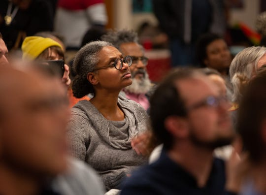 About 100 community members showed up to a meeting for residents impacted by the recent dock collapse into the Detroit River at a site formerly utilized for uranium development. The event took place at the Cass Common Corridors, Thursday, Dec. 12, 2019.