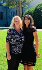 After the loss of her daughter to a drug addiction, Jennifer Woodard (left) began working with the Palmetto Foundation for Prevention & Recovery to help save the lives of other teens and young adults. She is pictured with Martine Helou, the foundation's executive director.