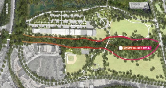 The Swamp Rabbit Trail will have an extension built to run parallel to the existing stretch along the Reedy River.
