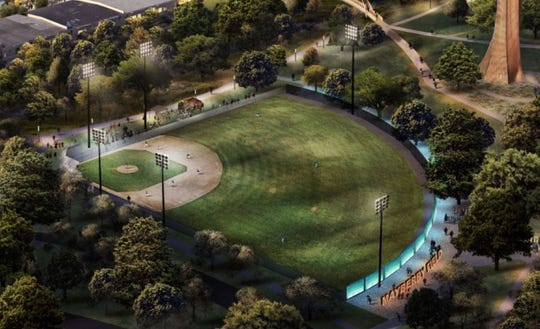 "The historically black Mayberry Park baseball field will be restored and feature a ""cultural wall."" Greenville Drive owner Craig Brown and his wife, Vicki, will pay for the project."