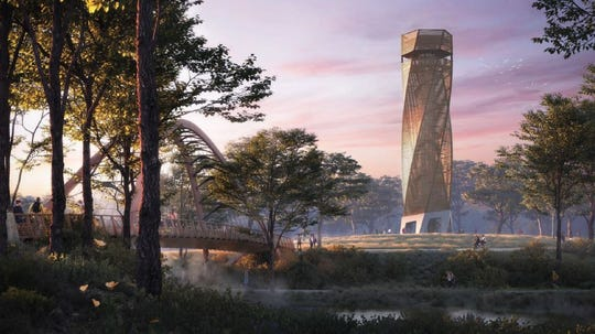 Unity Park's observation tower will be 10 stories tall.