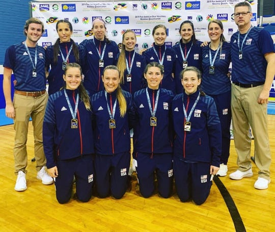 The United States deaf volleyball team at the Deaf Pan-American games in November in Brazil