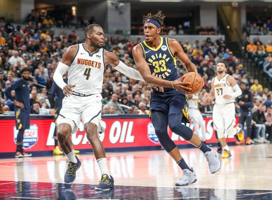Myles Turner (33) is reshaping his game to fit these Indiana Pacers.