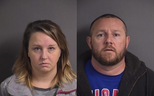 Andrea E. Stalder and Douglas P. Stalder are accused of taking items from Scheels department store on July 20, 2019, in Coralville.
