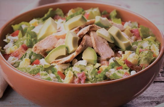Panera Bread's signature salads are filled with a variety of meats, cheeses, fruits and sliced vegetables.