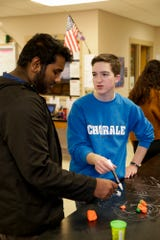 Two students in Becky Creech's AP Biology class work through an exercise, Friday, Dec. 13, 2019 at West Lafayette Jr./Sr. High School in West Lafayette.