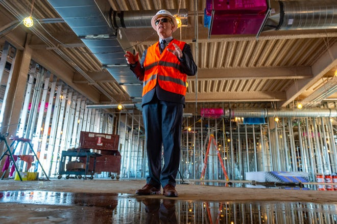 Executive Director Steven Picou provides a tour of the progress during construction of the new terminal at the Lafayette Regional Airport. Thursday, Dec. 12, 2019.
