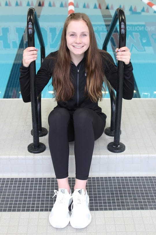 Brighton sophomore Drue Thielking made the top four in two events in the state Division 1 swimming and diving meet.