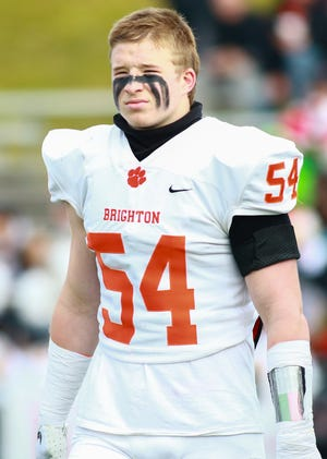 Brighton linebacker Cole Riddle is a repeat choice for Livingston County Defensive Player of the Year.