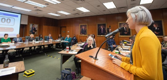 """I think I know why you're holding out.  If you keep these emails private until the summer of 2020, the six-year statute of limitations for criminal charges will run out,"" Nassar survivor Amanda Thomashow told the MSU Board of Trustees, Friday, Dec. 13, 2019, during the public comment portion of the board meeting."