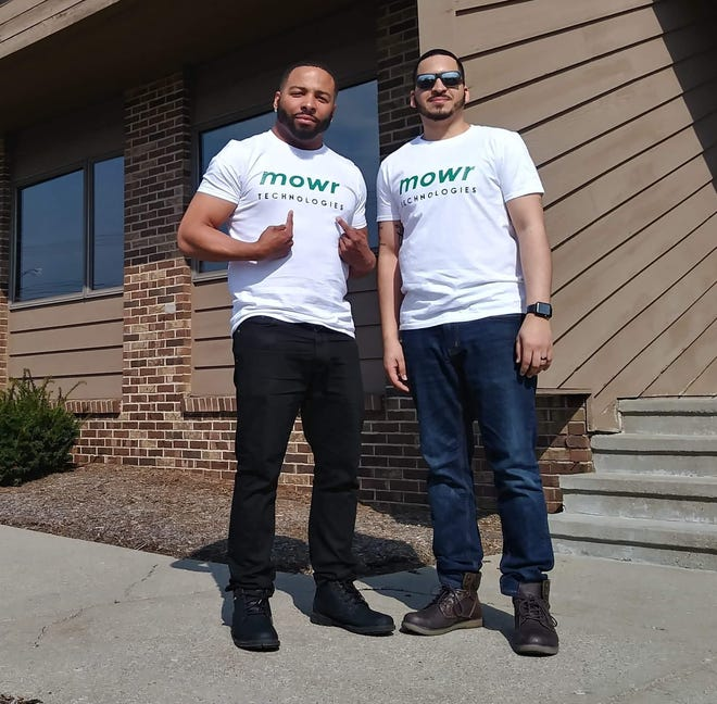 Gray Taylor, left, and Doug Salazar  co-founded of Mowr, an app that matches people needing lawn work with landscape service providers. The app soft launched in 2018.