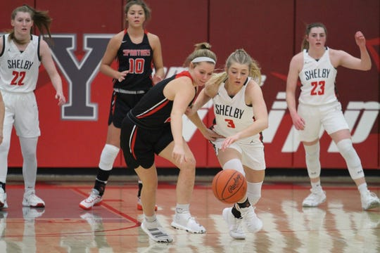 Shelby's Haylee Baker spearheads a Shelby defense that allowed 31.5 points over its last two games.