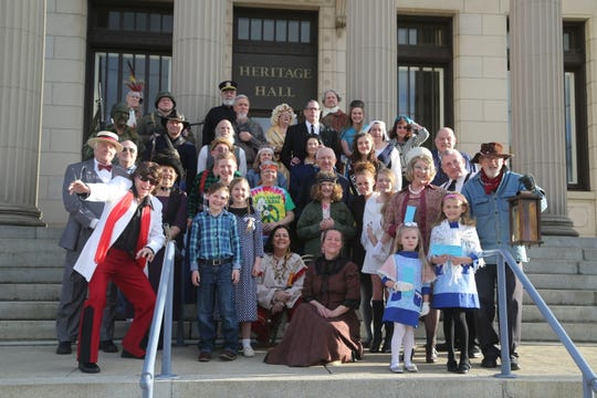 Costumed volunteers, helping with the Marion County Hisotrical Society's Night at the Museum event, are just one group of volunteers that help the Society daily with the museum's operations.
