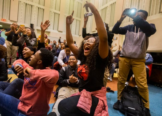 "Stax Music Academy students react to being gifted $250,000 from Ellen DeGeneres during the final night of a three-part holiday special ""Ellen's Greatest Night of Giveaways"" on Thursday, Dec. 12, 2019."