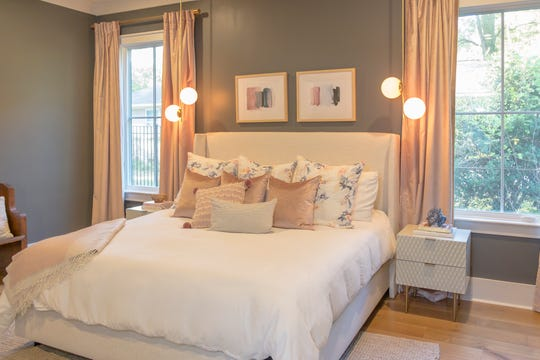 Josh and Lindsey Black sought to make the bedrooms in their Marshall Acres house comfortable and casual.