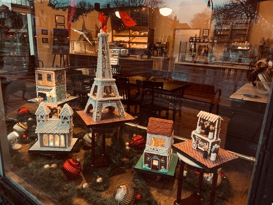 The Eiffel Tower, a patisserie and more make up the Parisian scene that is this year's gingerbread display at North Shore Boulangerie, 4401 N. Oakland Ave., Shorewood.