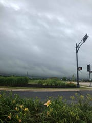 Nick Klug has taken photos, like this one of some storm clouds, and uploaded them to his Twitter account, Mequon Weather Nick.