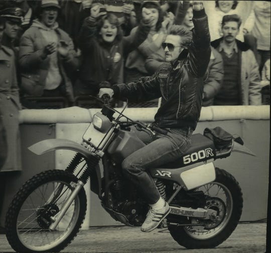 Robin Yount famously hopped on his bike and zipped around County Stadium following his team's appearance in the 1982 World Series.