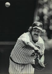 Right-hander Pete Vuckovich was an intimidating force for the 1982 Brewers.