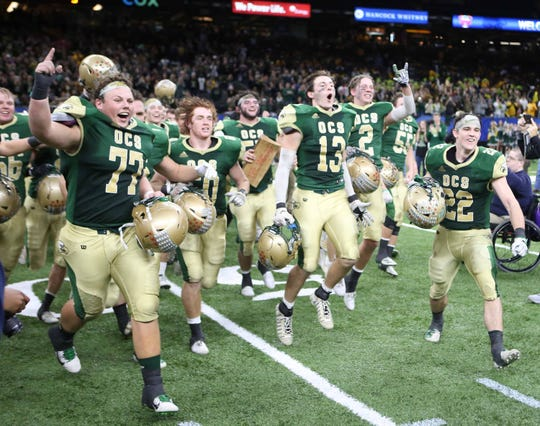 Ouachita Christian defeated Catholic - Pointe Coupee 67-22 to capture its 7th state title at the Mercedes-Benz Superdome in New Orleans on Dec. 13.