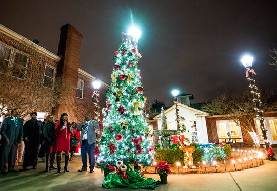 Brantwood Children's Home Executive Director Gerald Jones during the Open House and Christmas Tree Lighting Ceremony at the facility in Montgomery, Ala., on Thursday December 12, 2019.