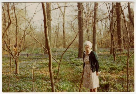 "Elisabeth ""Betty"" Ball at her home, Oakhurst, around 1977."