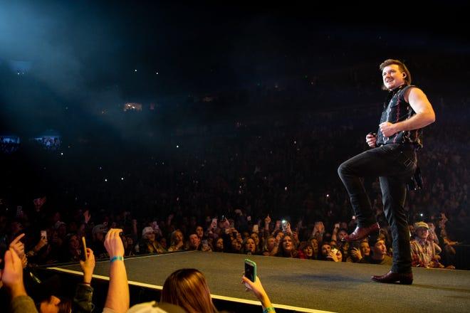 Morgan Wallen opens for Luke Combs at Bridgestone Arena in Nashville, Tenn., Thursday, Dec. 12, 2019.