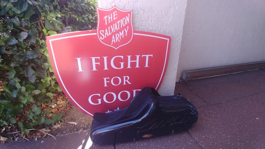All kinds of people with talent staff the Salvation Army kettles in Naples, but musicians are among the most popular.