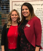 Republican candidates Olivia Parkinson (left) and Deborah Lang.