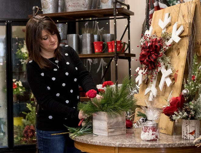 Amanda Stickdorn runs Linnet's Flowers On The Square with her mom, Linnet Lowe, (not Pictured).