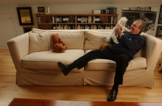 At home with actor Danny Aiello and his loveable pooch, Sofi in Saddle River.