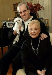Saddle River 2/5/2007 Danny Aiello with wife and dog at his house in Saddle River. Photo Gary Jung