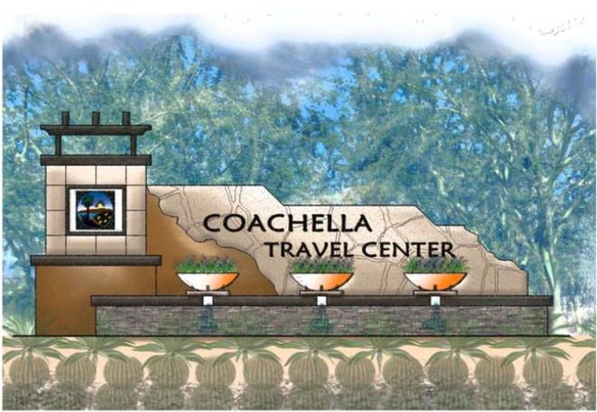 The proposed project would include an entry monument to the city of Coachella.