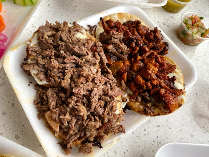 "Carne asada vampiros (left) and vampiros al pastor (right) at Taco Boy&#39;s.&nbsp;<strong>Details:&nbsp;</strong>620 E. Roosevelt St., Phoenix. 602-675-3962, <a href=""http://www.aztacoboys.com"" target=""_blank"">aztacoboys.com</a>."