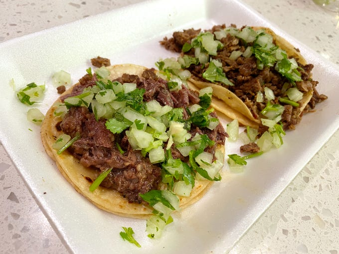 Cabeza tacos at Taco Boy's in Phoenix.