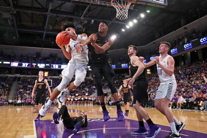 Scenes from Grand Canyon's basketball game against Northern Iowa.