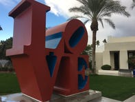 """LOVE"" (1999) by Robert Indiana, Scottsdale Civic Center Plaza."