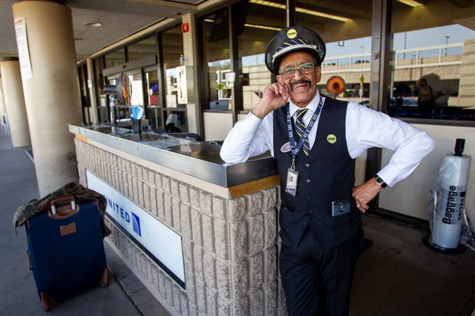 Lou Davis has worked at Phoenix Sky Harbor longer than anyone else — 57 years. Davis said he loves working and has no plans to retire.