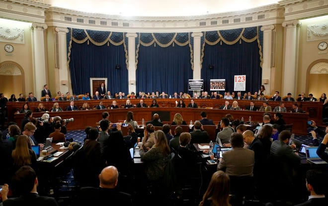 The House Judiciary Committee votes on House Resolution 755, Articles of Impeachment Against President Donald Trump, on Capitol Hill in Washington, D.C., on Dec. 13, 2019.