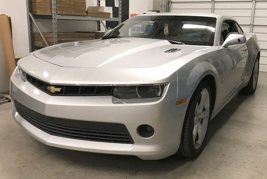 A man who was driving this Chevrolet Camaro northbound on the 303 was shot in the leg by a man in a white pick-up truck around 4 p.m. on Dec. 12, 2019. Goodyear Police Department sought the public's help in locating the suspect.