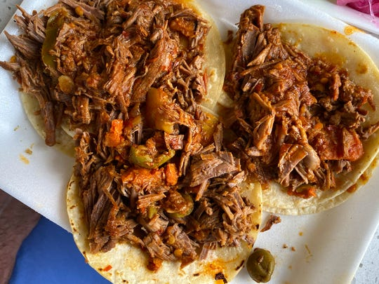 Barbacoa tacos at Taco Boy's in Phoenix.