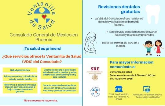 En 2018, la Ventanilla de Salud del Consulado General de México en Phoenix proporcionó información preventiva a más de 16,000 personas y se aplicaron más de 1,000 vacunas durante el periodo invernal.