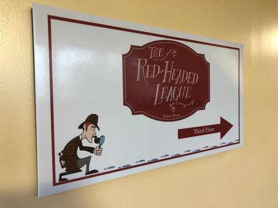 Signage for the Red-Headed League Public House is all over the Lebanon Farmers Market, so you shouldn't have any trouble finding your way inside.
