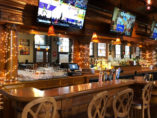 The old antique bar remains on the third floor of the Lebanon Farmers Market, but new flat screen TVs make above make it a more welcoming experience for sports fans.