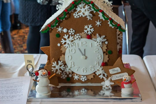 """""""A Magical Christmas Time"""" was created by Jessica Oliveri for the annual gingerbread competition at Mohonk Mountain House, Dec. 8, 2019."""