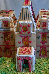 """This gingerbread house named """"In Wonderland"""" was created by Rachel Hunderfund for the Mohonk Mountain House annual Gingerbread Competition, Dec. 8, 2019."""