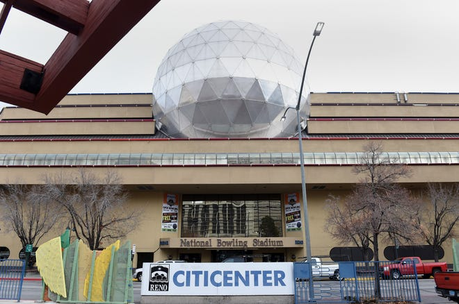 The National Bowling Stadium in downtown Reno on Dec. 13, 2019.