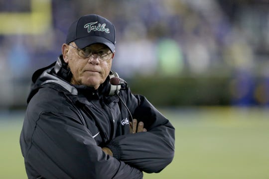 Jimmye Laycock played quarterback for Marv Levy at William & Mary, where he coached both Mike Tomlin and Sean McDermott. Laycock and several former teammates of Tomlin and McDermott will be in Pittsburgh Sunday night when the Steelers host the Bills.