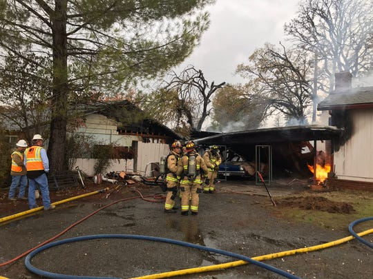 Redding firefighters were called to a house fire at 2499 Hawn Ave. on Friday, Dec. 13, 2019.